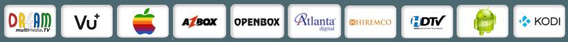 Logos von Plattformen mit denen man unsere IPTV Listen empfangen kann